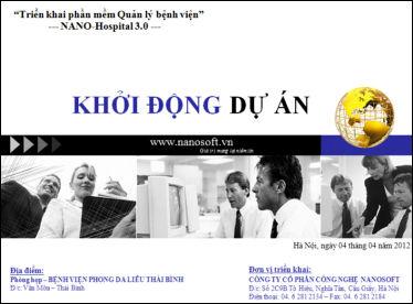 Khởi động dự án triển khai Phần mềm bệnh viện cho BV Phong da liễu Thái Bình
